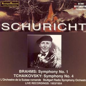 Brahms: Symphony No. 1 - Tchaikovsky: Symphony No. 4 (Live Recordings 1953-1954)