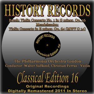 Bruch & Mendelssohn: Violin Concertos (History Records - Classical Edition 16 - Original Recordings Digitally Remastered 2011 in Stereo)