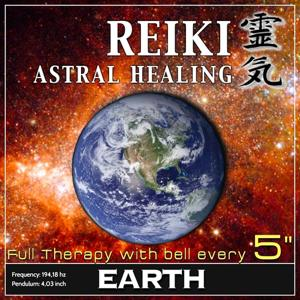 Reiki Astral Healing - Earth Frequency (1h Full Binaural Healing Therapy With Bell Every 5 Minutes)