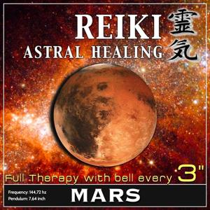 Reiki Astral Healing - Mars Frequency (1h Full Binaural Healing Therapy With Bell Every 3 Minutes)