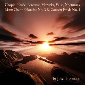 Chopin: Etude, Berceuse, Mazurka, Valse, Nocturnes - Liszt: Chant Polonaise No. 3 & Concert Etude No. 1