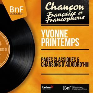 Pages classiques & Chansons d'aujourd'hui (Mono Version)